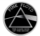 Pink Floyd Dark Side Of The Moon black/silver metallic sticker 80mm x 80mm  (cv)